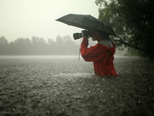 Как фотографировать в дождь?